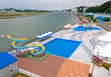 군산 소룡동 야외수영장